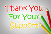 Thank You For Your Support Concep — Stock Photo