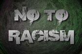 No To Racism Concept — Stock Photo