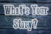 What's Your Story Concept — Stockfoto