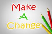 Make A Change Concept — Stock Photo
