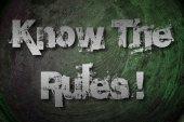 знать правила концепции — Стоковое фото
