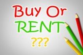 Buy Or Rent Concept — Stock Photo