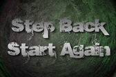 Step Back Start Again Concept — Foto Stock