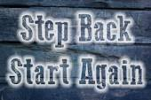 Step Back Start Again Concept — Stock Photo