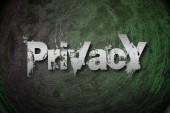 Privacy Concept — Stock Photo