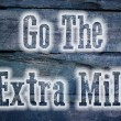 Go The Extra Mile Concept — Stock Photo #56332699