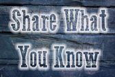 Share What You Know Concept — 图库照片