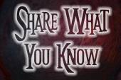 Share What You Know Concept — Stock Photo