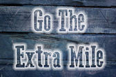 Go The Extra Mile Concept — Stock Photo