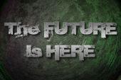 L'avenir est ici concept — Photo