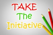 Take The Initiative Concept — Stock Photo