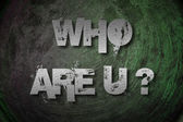 Who Are You Concept — Photo