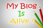 Il mio blog è vivo concetto — Foto Stock