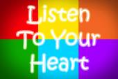 Listen To Your Heart Concept — Stock Photo