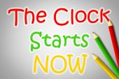 The Clock Starts Now Concept — 图库照片
