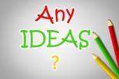 Any Ideas Concept — Stock Photo