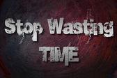 Deje de perder el concepto de tiempo — Foto de Stock