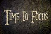 フォーカスの概念の時間 — ストック写真