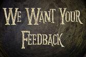 Chceme, aby váš názor koncept — ストック写真
