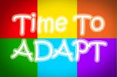 Time To Adapt Concept — Stock Photo