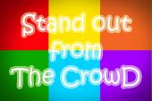 Stand Out From The Crowd Concept — Stock Photo