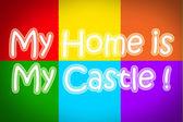 Mijn huis is mijn kasteel concept — Stockfoto