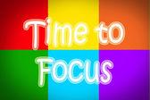 Tiempo al concepto de foco — Foto de Stock
