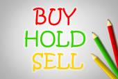 Buy Hold Sell Concept — Stock Photo