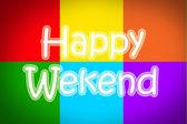Happy Weekend blackboard — Foto de Stock