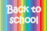 Back to school text on background — Foto de Stock