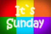 It's Sunday Concept — Stockfoto