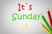 это концепция, воскресенье — Стоковое фото
