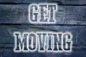 Get Moving Concept — Stockfoto