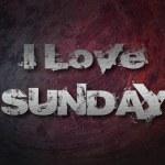 I Love Sunday Concept — Stock Photo #56350119