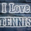 I Love Tennis Concept — Stock Photo #56357555