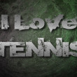 I Love Tennis Concept — Stock Photo #56357557