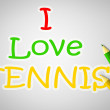 I Love Tennis Concept — Stock Photo #56357693