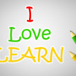 I Love Learn Concept — Stock Photo #56357885