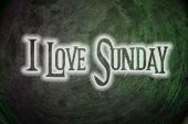 I Love Sunday Concept — Foto de Stock