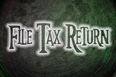 File Tax Return Concept — Stock Photo