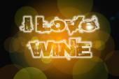 I Love Wine Concept — Foto Stock