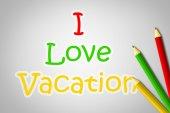 I Love Vacation Concept — Foto Stock