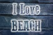 I Love Beach Concept — Stockfoto
