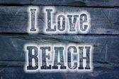 I Love Beach Concept — Foto Stock
