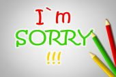 I Am Sorry Concept — Stock Photo