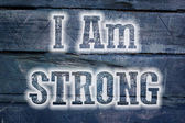 I Am Strong Concept — Stock Photo