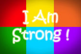 I Am Strong Concept — Foto Stock
