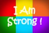 Já jsem silná koncepce — Stock fotografie