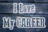 I Love My Career Concept — Stock Photo