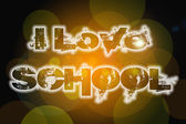 I Love School Concept — Stock Photo